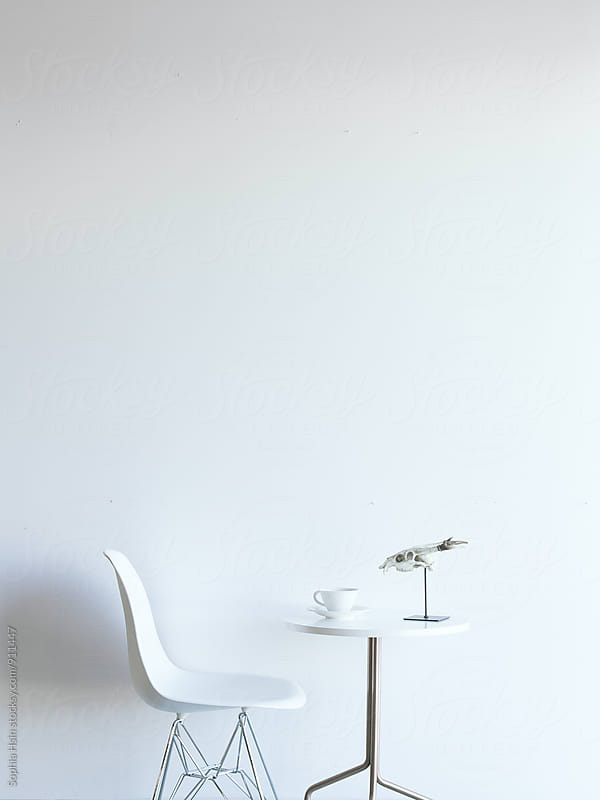 White space and furniture by Sophia Hsin for Stocksy United