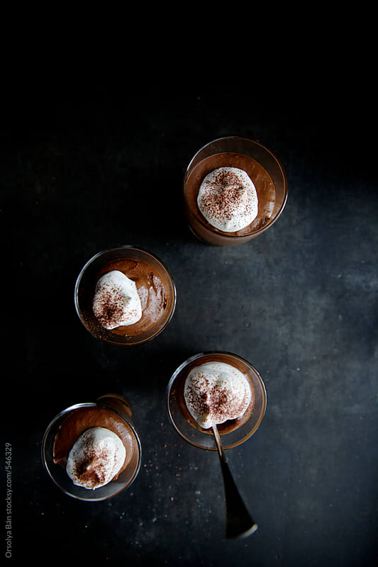 Chocolate mousse by Orsolya Bán for Stocksy United