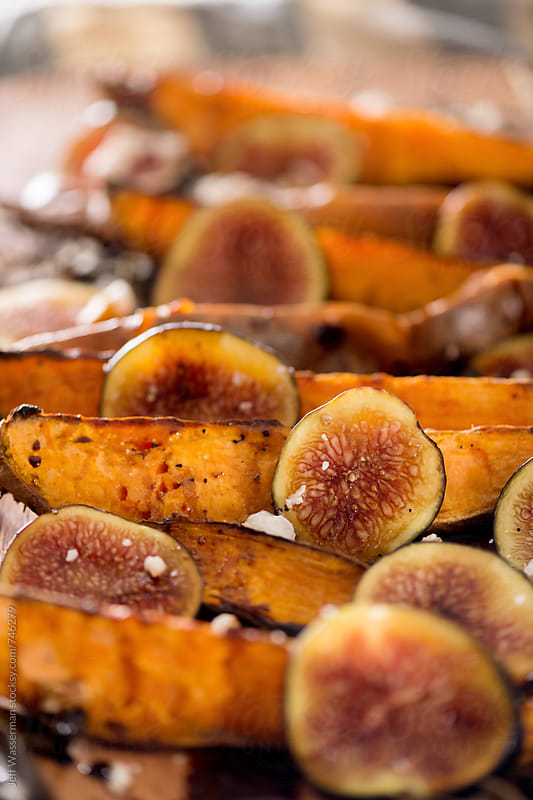 Sweet Potato Wedges with Figs by Studio Six for Stocksy United