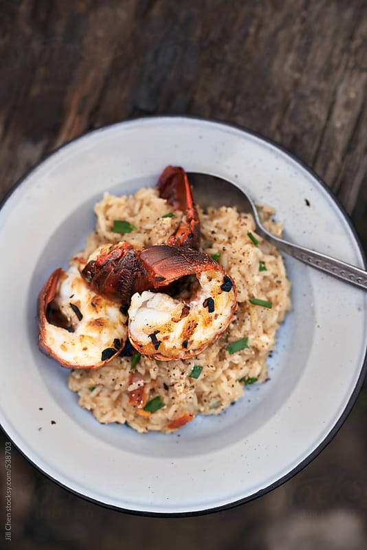 italian seafood risotto  by Jill Chen for Stocksy United