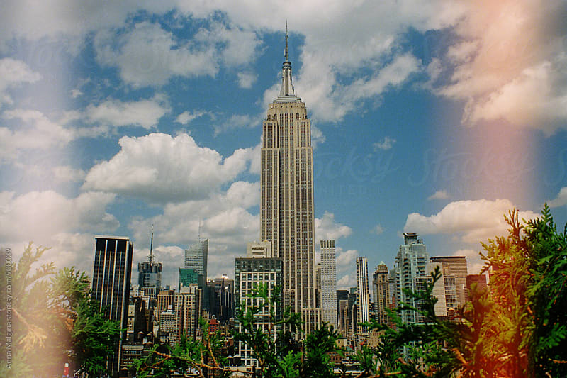 A film photo of Empire State Building in Manhattan, New York City by Anna Malgina for Stocksy United