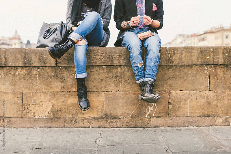 Urban Teenagers Relaxing in the Old City by Giorgio Magini for Stocksy United