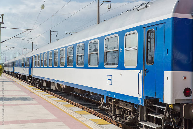 Blue train - traveling from Turkey to Germany by Jovo Jovanovic for Stocksy United