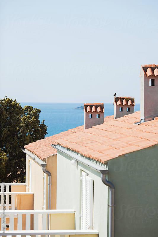 Weekend houses near the seashore by Maja Topcagic for Stocksy United