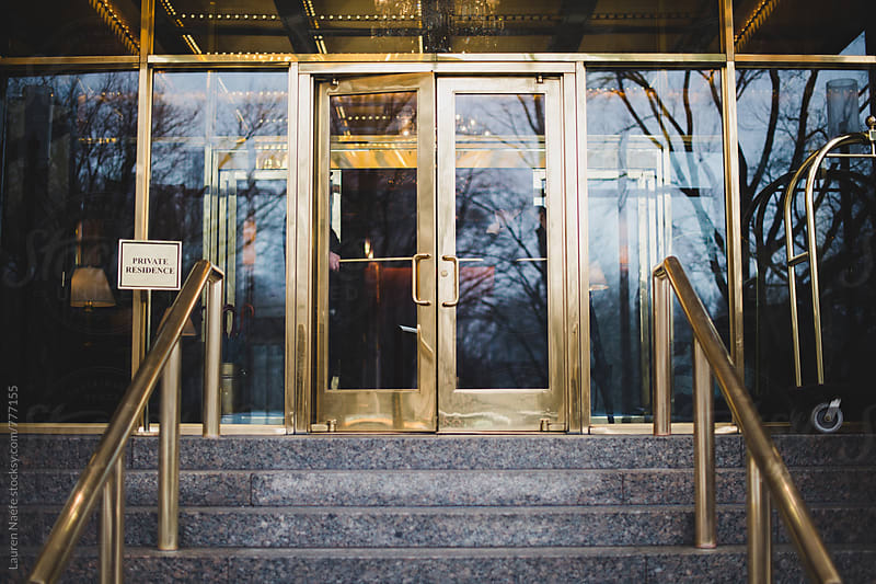 Luxury doorman building in the city by Lauren Naefe for Stocksy United