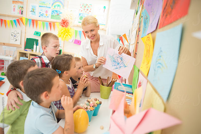 Kindergarten Art Class by Lumina for Stocksy United