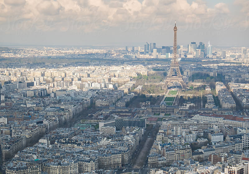 Panoramic view of The Eiffel Tower and Paris, France. by Craig Holmes for Stocksy United