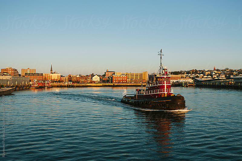 Tug Boat Portland, Maine by Raymond Forbes LLC for Stocksy United