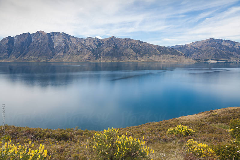 Beautiful Lake Hawea in New Zealand's south island in spring. by RZ CREATIVE for Stocksy United