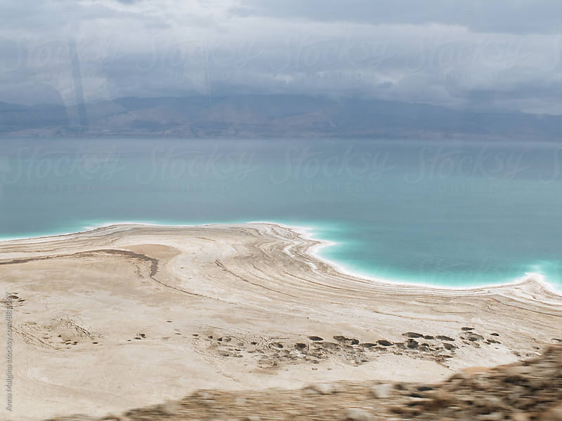 a view to dead sea from the car by Anna Malgina for Stocksy United