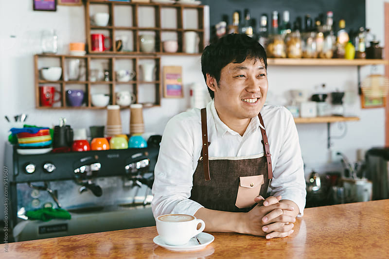 Portrait of young coffee owner by Maa Hoo for Stocksy United