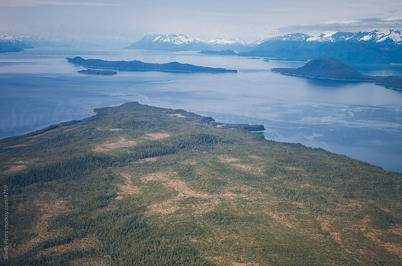 Flying over the Inside Passage of Alaska by Shelly Perry for Stocksy United