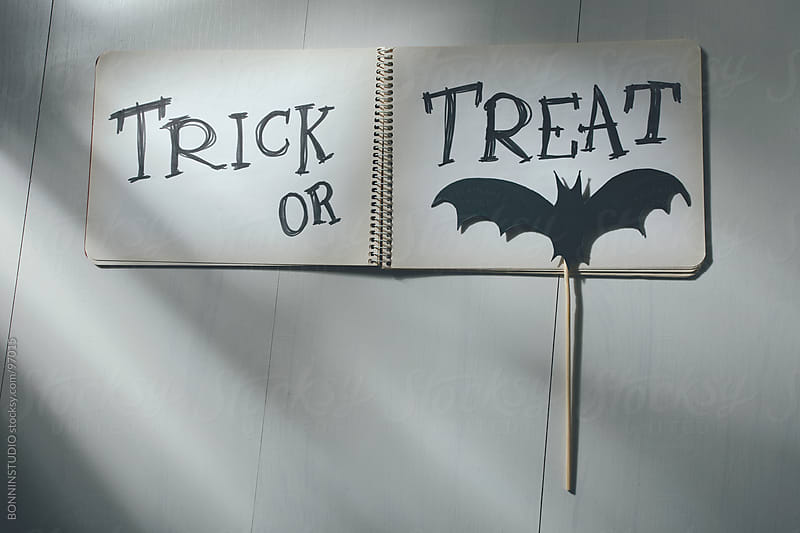 Trick or treat. Halloween decoration, by BONNINSTUDIO for Stocksy United