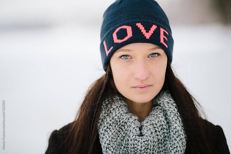 winter girl by Alexey Kuzma for Stocksy United