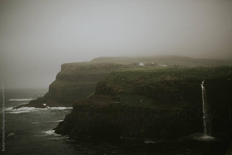 Waterfall at Gasadular, Faroe Islands by Rachel Gulotta Photography for Stocksy United