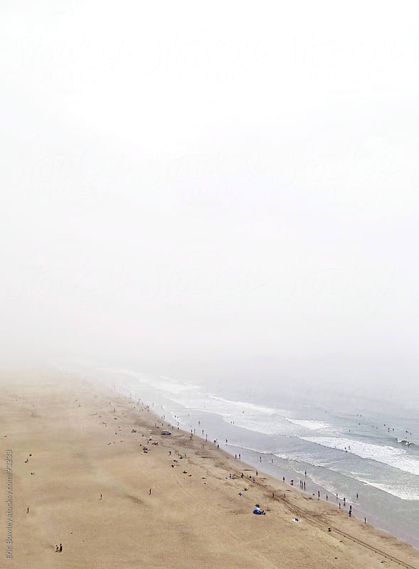 Foggy Beach Coastline by Eric Bowley for Stocksy United