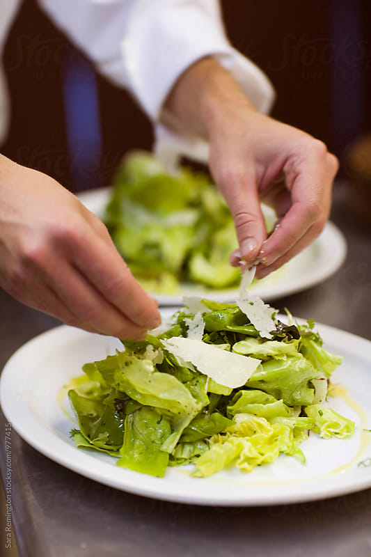 Cheese on Butter Lettuce Salad by Sara Remington for Stocksy United