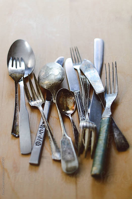 Antique Silverware by Tina Crespo for Stocksy United