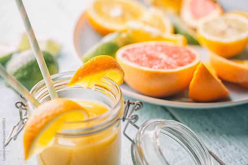 Orange Juice and Citrus Fruits by Lumina for Stocksy United