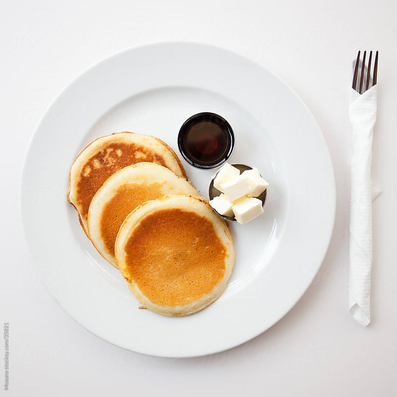 Pancakes served in a restaurant. by Mosuno for Stocksy United