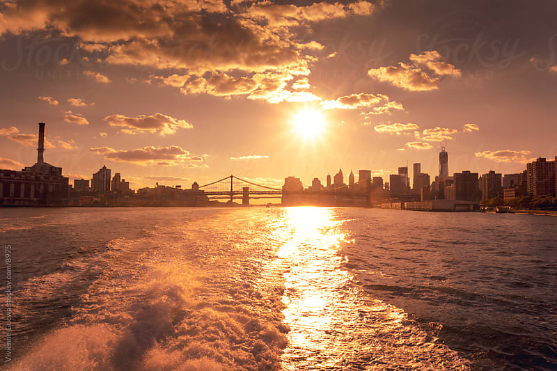 New York City Skyline - View from the East River by Vivienne Gucwa for Stocksy United
