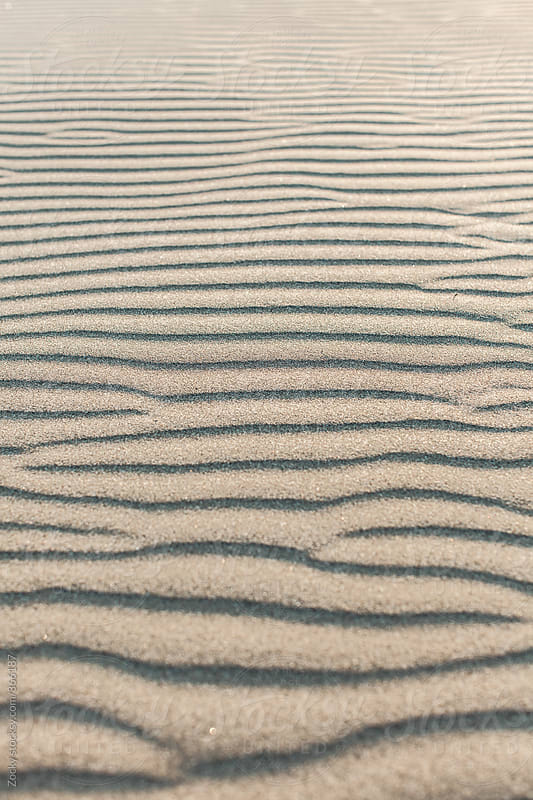 Ripples in the sand, abstract by Zocky for Stocksy United