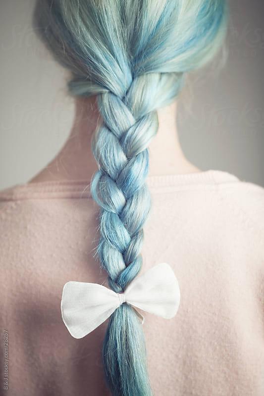 blue french braid by B & J for Stocksy United