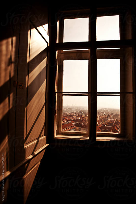 View of Prague from the window by Sergey Filimonov for Stocksy United