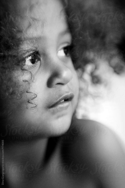 Profile View Of African American Child by Dina Giangregorio for Stocksy United