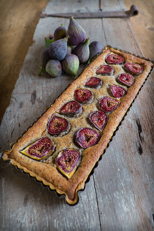 Fig Frangipani Tart by Rowena Naylor for Stocksy United