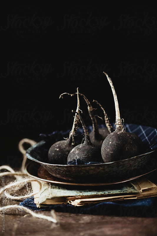 Black radish by Tatjana Zlatkovic for Stocksy United