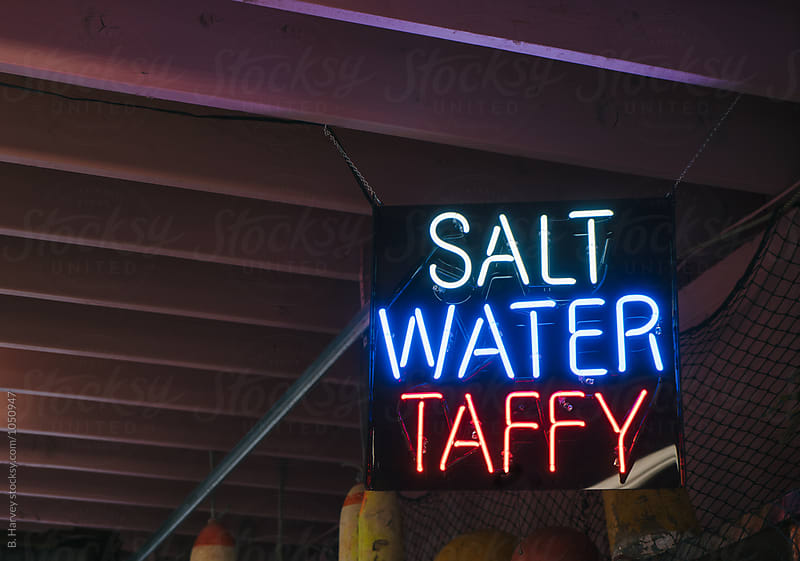 Salt Water Taffy Sign by B. Harvey for Stocksy United