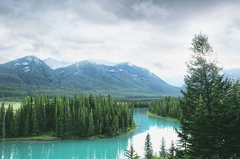 Beautiful scene in Banff national park by Sandra Cunningham for Stocksy United