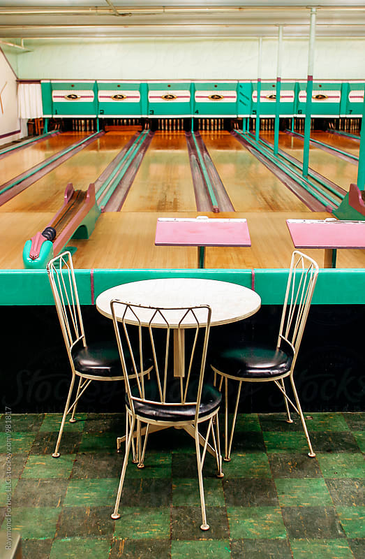 Vintage Candlepin Bowling Alley by Raymond Forbes LLC for Stocksy United