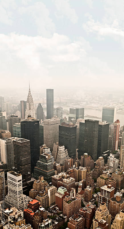 Manhattan Aerial View by VICTOR TORRES for Stocksy United