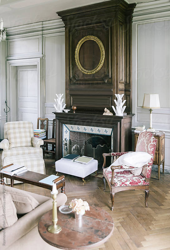Interiors of Private French Chateau by Raymond Forbes LLC for Stocksy United