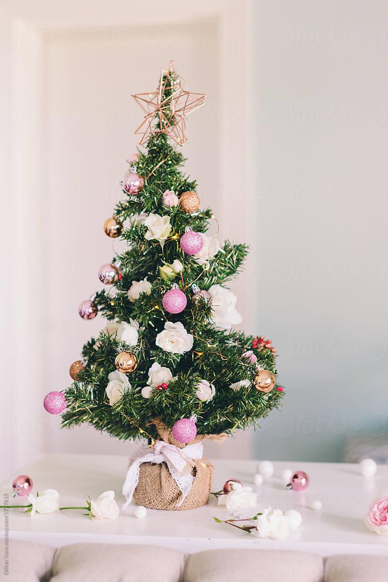 Christmas Tree By Gillian Vann Christmas Tree Pink Stocksy United