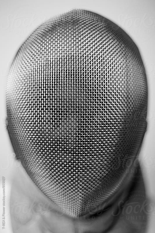 Fencer's mask. Unrecognizable by T-REX & Flower for Stocksy United