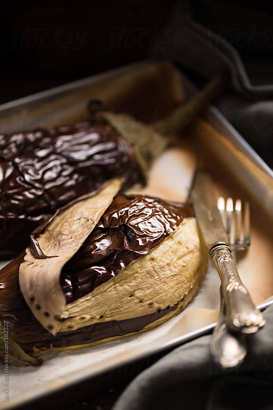 baked eggplants  by Laura Adani for Stocksy United
