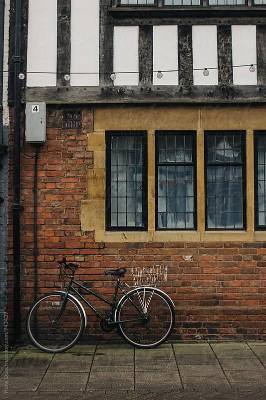 Bike Against Wall by Hung Quach for Stocksy United