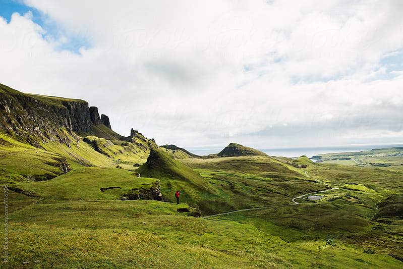 The Quiraing, Trotternish Ridge, Isle of Skye in Scotland by Ruth Black for Stocksy United