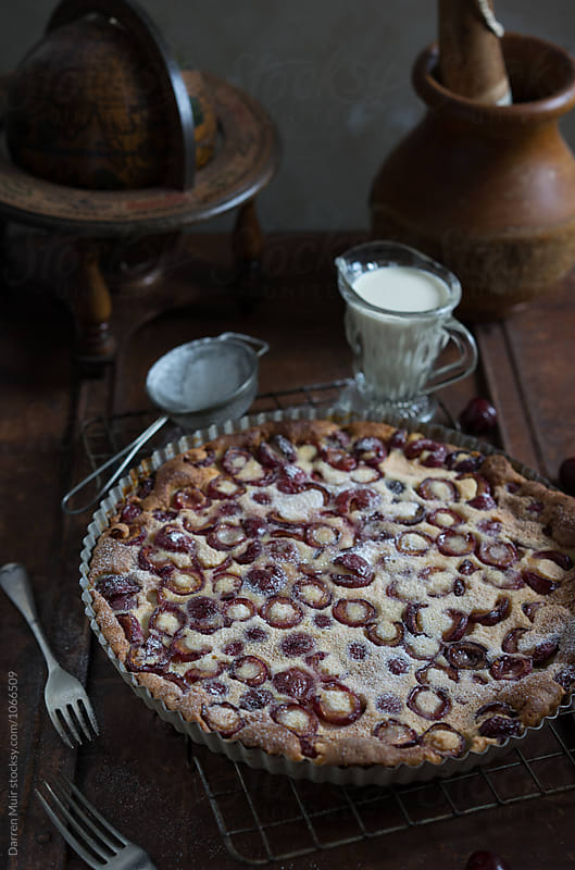 Cherry clafoutis: Homemade classic. by Darren Muir for Stocksy United