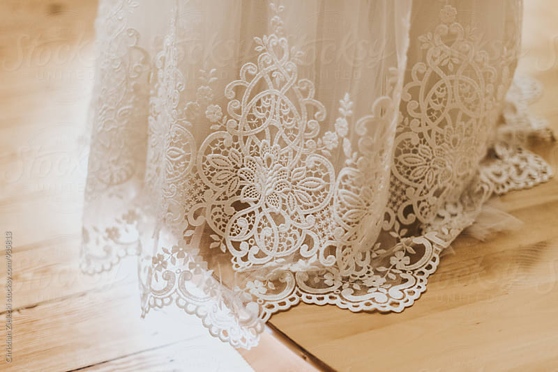 Lace of a wedding dress by Christian Zielecki for Stocksy United
