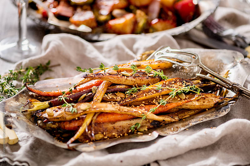 Roasted Heirloom Carrots in Balsamic Reduction by Studio Six for Stocksy United