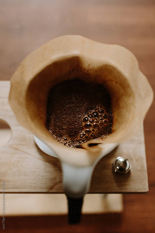 Pourover Coffee at Bloom by Levi Tijerina for Stocksy United