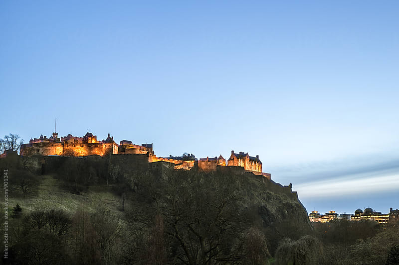 Edinburgh Castle at Twilight by Helen Sotiriadis for Stocksy United