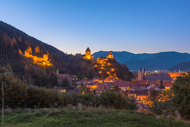 Friesach, Austria - Evening Panorama of the Town by Tom Uhlenberg for Stocksy United