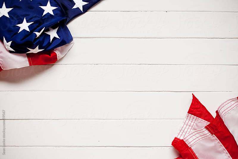 Background: Stars and Stripes Flag Background by Sean Locke for Stocksy United