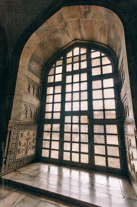 Window and arch on Baby Taj mausoleum - palace, Agra, India by Alejandro Moreno de Carlos for Stocksy United