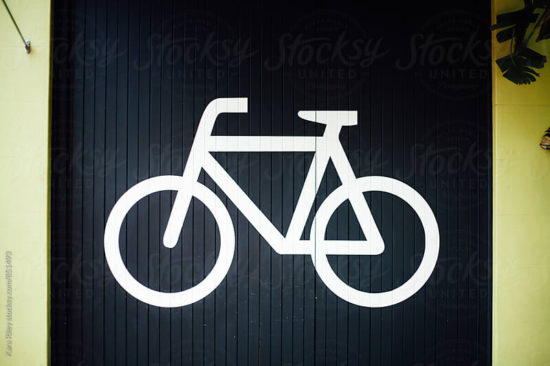 Bike Sign by Kara Riley for Stocksy United